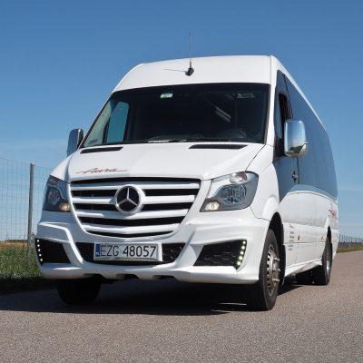 Transport Pasażerski Aura Ozorków wynajem busów i autokarów premium Mercedes Euro 6 wysoki komfort podróży