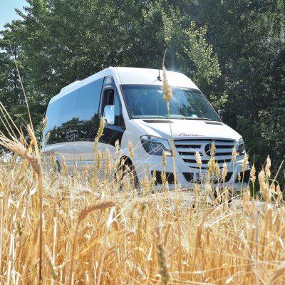 Transport Pasażerski Aura Ozorków wynajem busów i autokarów premium Mercedes Euro 6 VIP